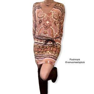 Anthro Velvet Graham & Spencer boho paisley dress